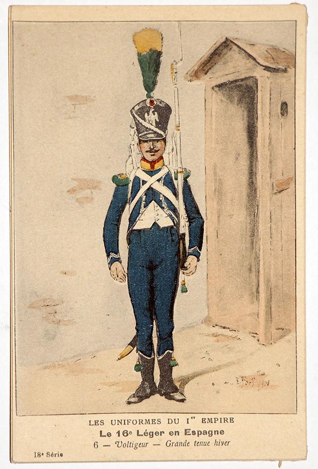 Carte Bucquoy - Les Uniformes du 1er Empire - Série 28 - N°8/7/6/5/2