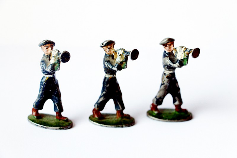 Figurines Quiralu ancienne chasseur à pied France 1940 trompette