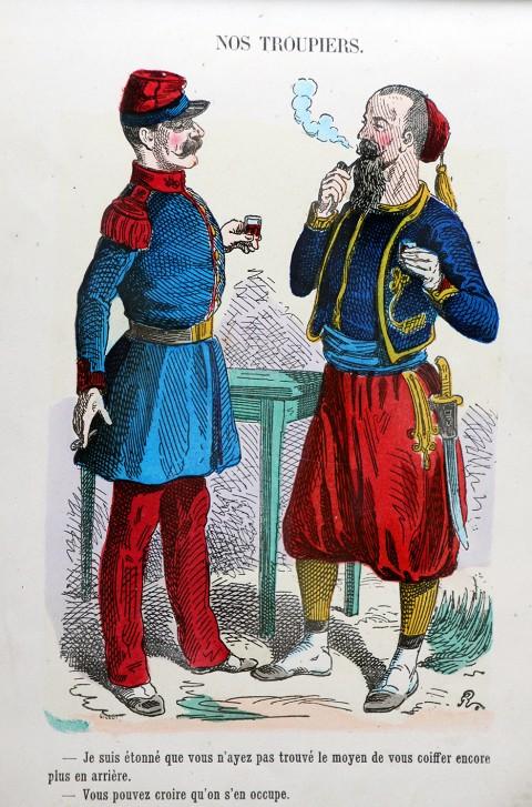 Nos troupiers - Album comique - Armée Française Second Empire - Par Randon