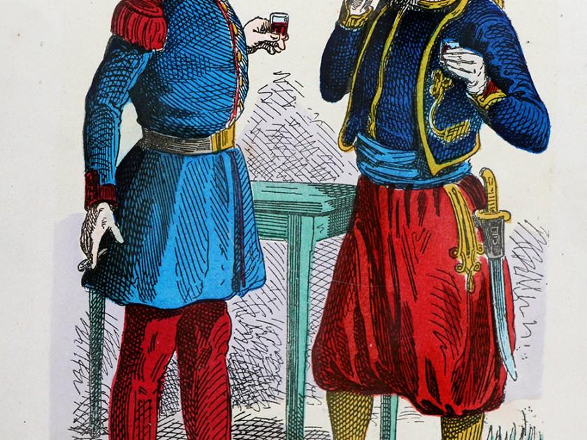 Nos troupiers – Album comique – Armée Française Second Empire – Par Randon