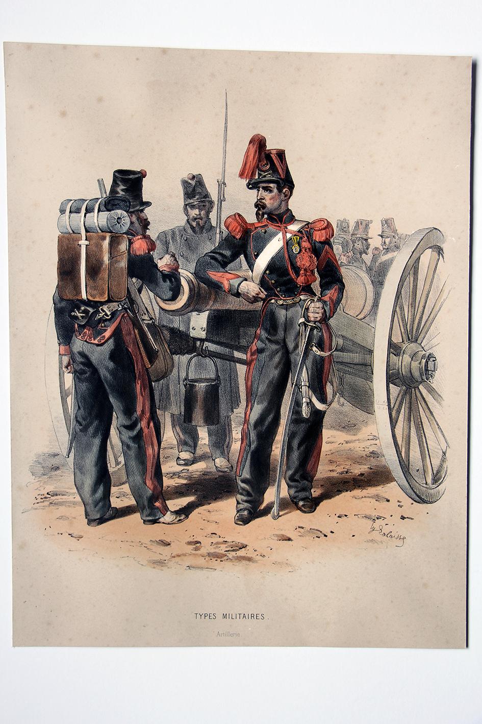Uniforme Second Empire Artillerie - François Hippolyte Lalaisse
