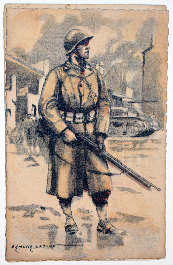 Armée Française de la libération Infanterie 1945 - Edmond Lajoux
