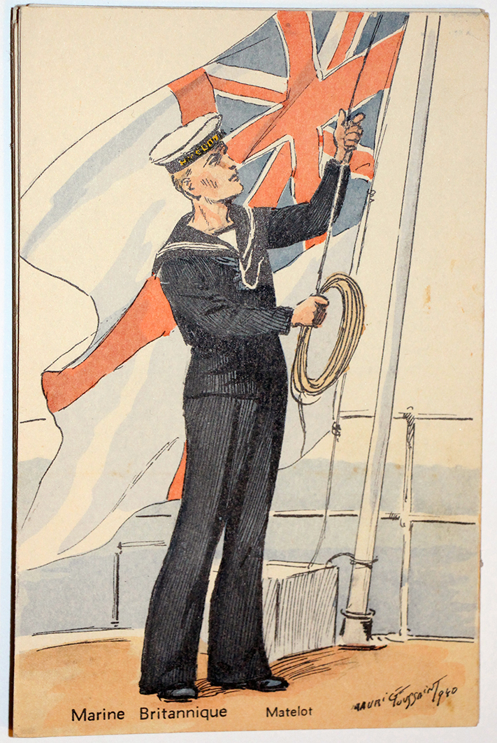 Marine Britannique Matelot Maurice Toussaint