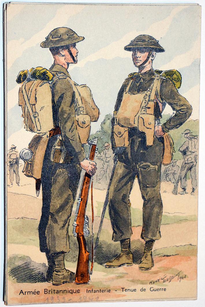 Armée Anglaise Infanterie - 1939 - Maurice Toussaint