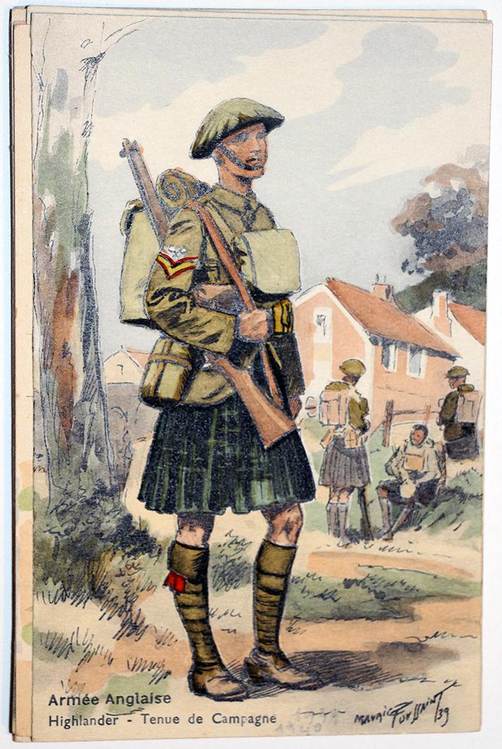 Armée Anglaise Infanterie Highlander - 1939 - Maurice Toussaint