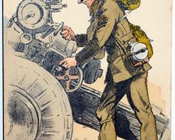 Armée Anglaise Artillerie Campagne - 1939 - Maurice Toussaint