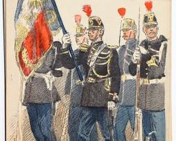 Armée Française - Garde Républicaine - Porte Drapeau - 1910 - Maurice Toussaint
