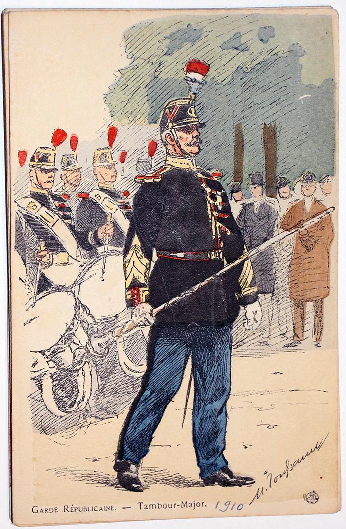 Armée Française - Garde Républicaine - Tambour Major - 1910 - Maurice Toussaint