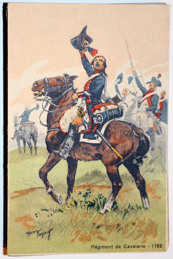 Uniforme - Régiment de Cavalerie 1792 - Carte postale - Maurice Toussaint