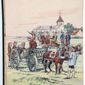 2 Cartes - Uniforme - Corps Royal d'Artillerie - 1765/1755 - Pierre Albert Leroux