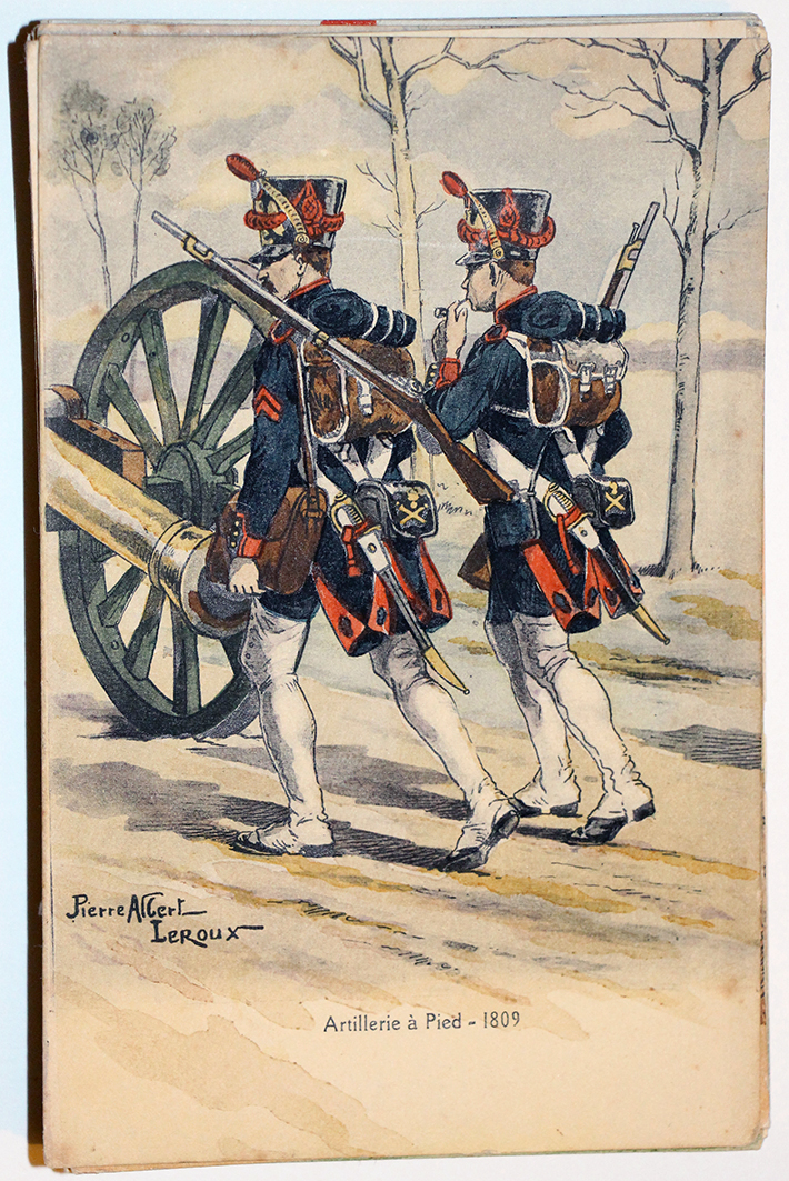 Uniforme - Artillerie à Pied 1809 - Carte postale - Pierre Albert Leroux