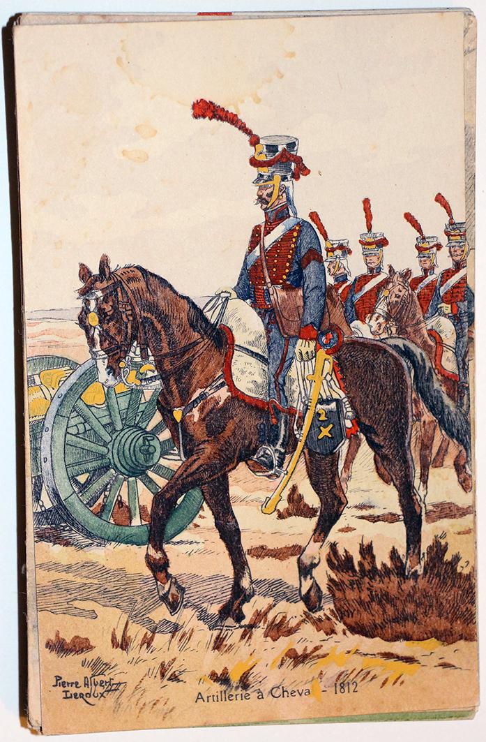 Uniforme - Artillerie à Cheval 1812 - Carte postale - Pierre Albert Leroux