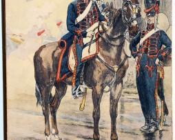 Uniforme - Artillerie Légère 1800 - Carte postale - Pierre Albert Leroux