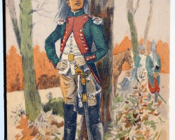 Officier Dragons 1792 - Révolution - Uniforme - Maurice Toussaint
