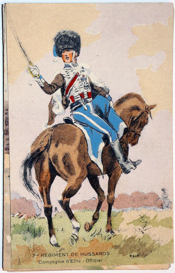 Uniforme - Hussards 2e - Carte postale - Maurice Toussaint