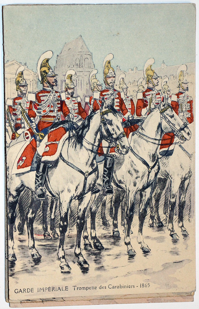 Uniforme - Carabiniers and Empire 1865 - Carte postale - Maurice Toussaint