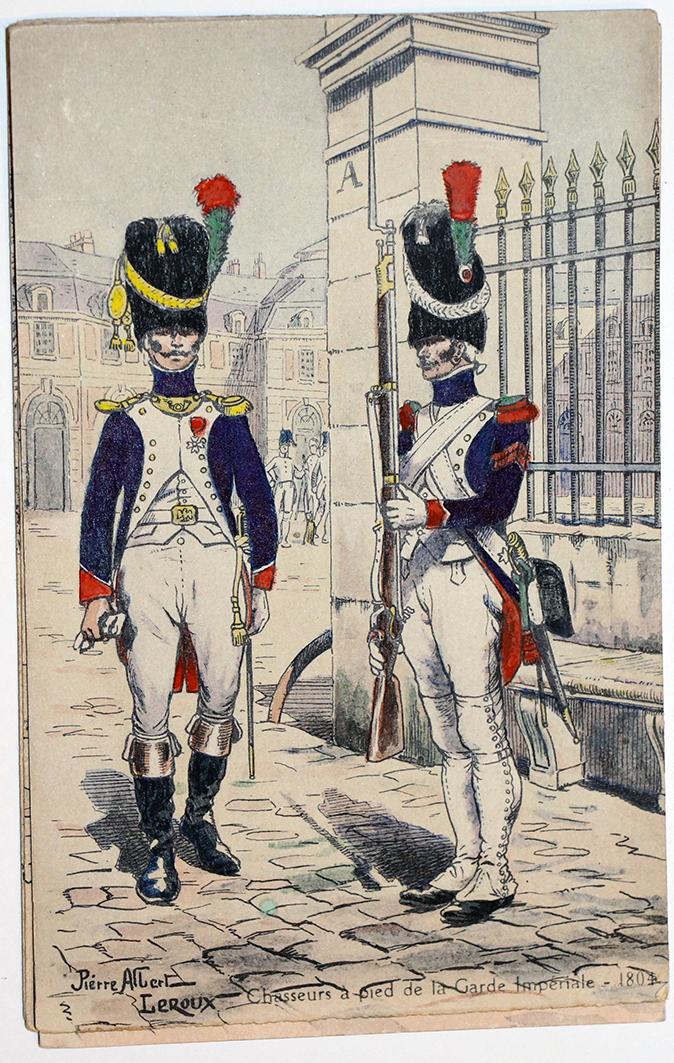 Garde Impériale Chasseurs à Pied - Uniforme - 1er Empire - Pierre Albert Leroux