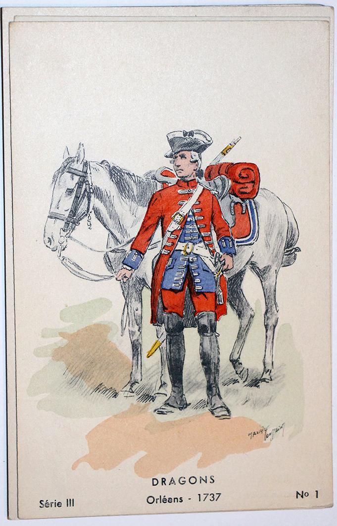 Dragons 1737- Orléans - Maurice Toussaint