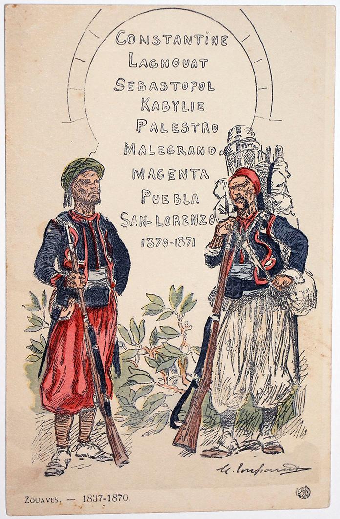 Zouaves Historique 1837/1870 - Uniformes - Maurice Toussaint