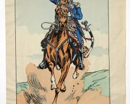 Planche Epinal / Jarville - Illustration de Victor Huen - 1er Empire - Uniformes - Officier d'Ordonnance de l'Empereur