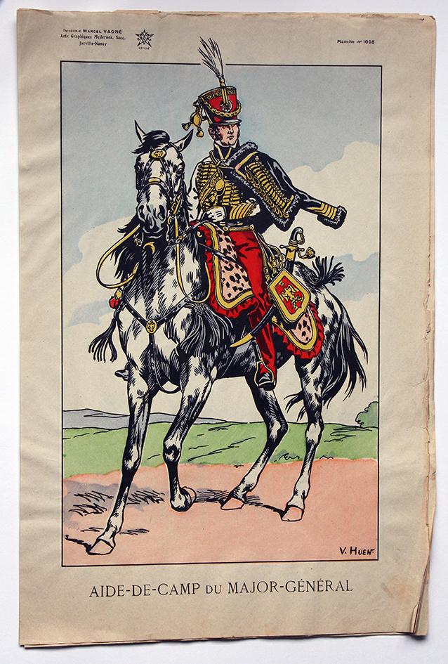 Planche Epinal / Jarville - Illustration de Victor Huen - 1er Empire - Uniformes - Aide de Camp