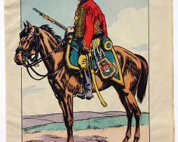 Planche Epinal / Jarville - Illustration de Victor Huen - 1er Empire - Uniformes - Chasseur à Cheval Garde