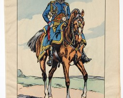 Planche Epinal / Jarville - Illustration de Victor Huen - 1er Empire - Uniformes - Capitaine Adjoint Etat Major
