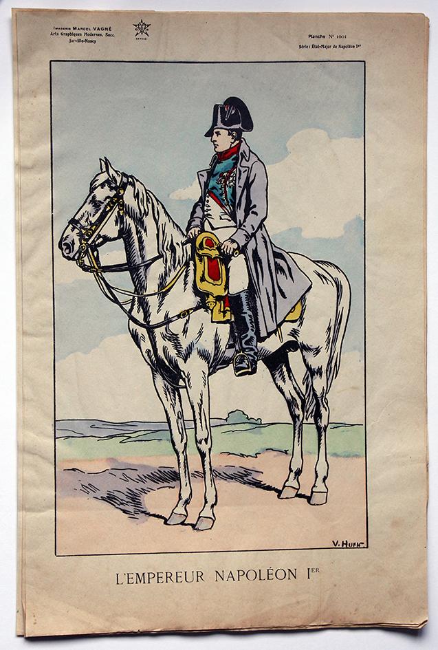 Planche Epinal / Jarville - Illustration de Victor Huen - 1er Empire - Uniformes - Napoléon 1er Empereur