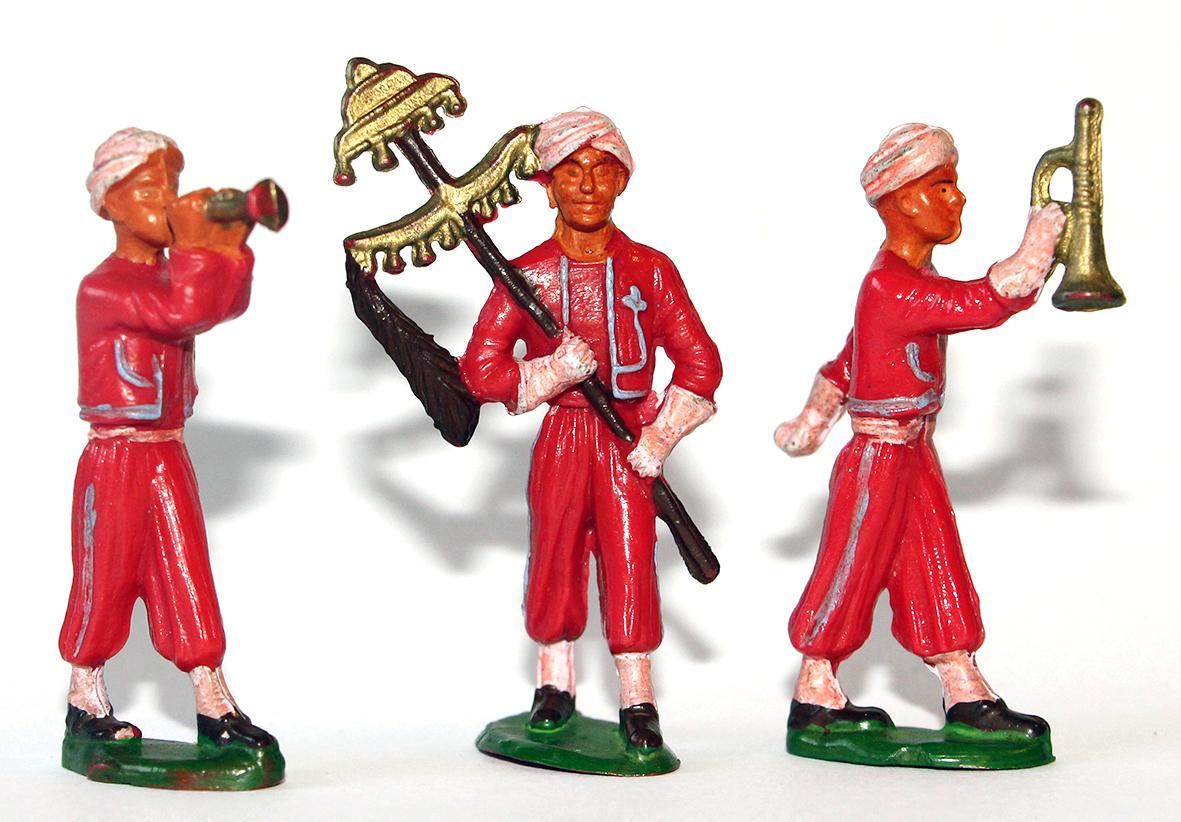 Figurines Starlux ancienne 3 musiciens Marocains