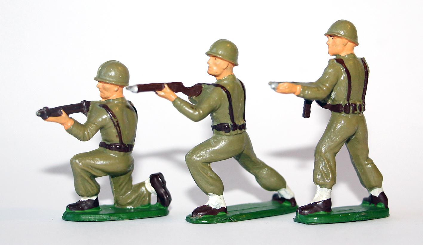 Figurines Starlux ancienne 3 soldats infanterie