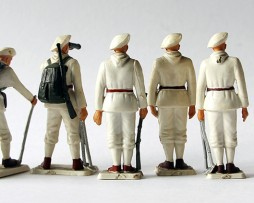 8 Figurines Starlux ancienne Chasseurs Alpins