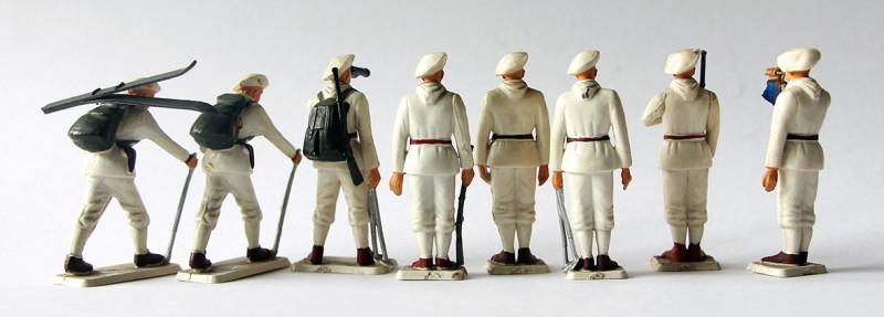 8 Figurines Starlux ancienne Chasseurs Alpins