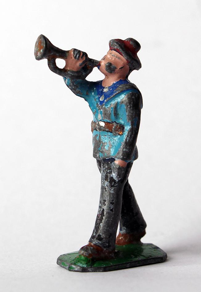 Figurines Quiralu ou plomb creux Marin Français trompette