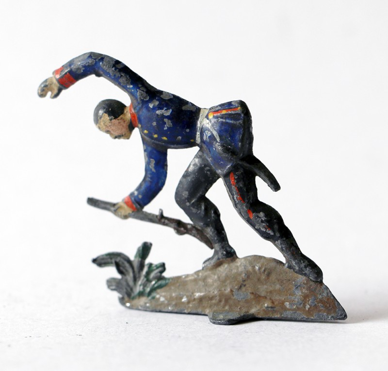 Figurine Plomb Demi Rond Bosse Infanterie Prussienne 1870