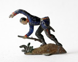 Figurine Plomb Demi Rond Bosse Infanterie Prussienne 1870