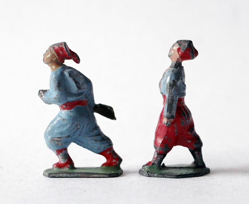 Figurines Plomb creux Infanterie Française 1920 Zouaves Tirailleurs