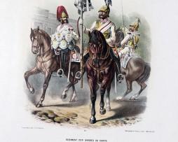 Gravures Chromolithographie XIX - Armée Prussienne - Empereur Guillaume - Uniforme