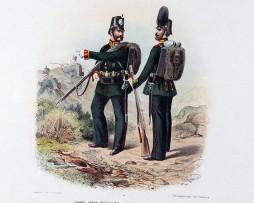 Gravure Chromolithographie XIX - Armée Prussienne - Empereur Guillaume - Uniforme (Copier)