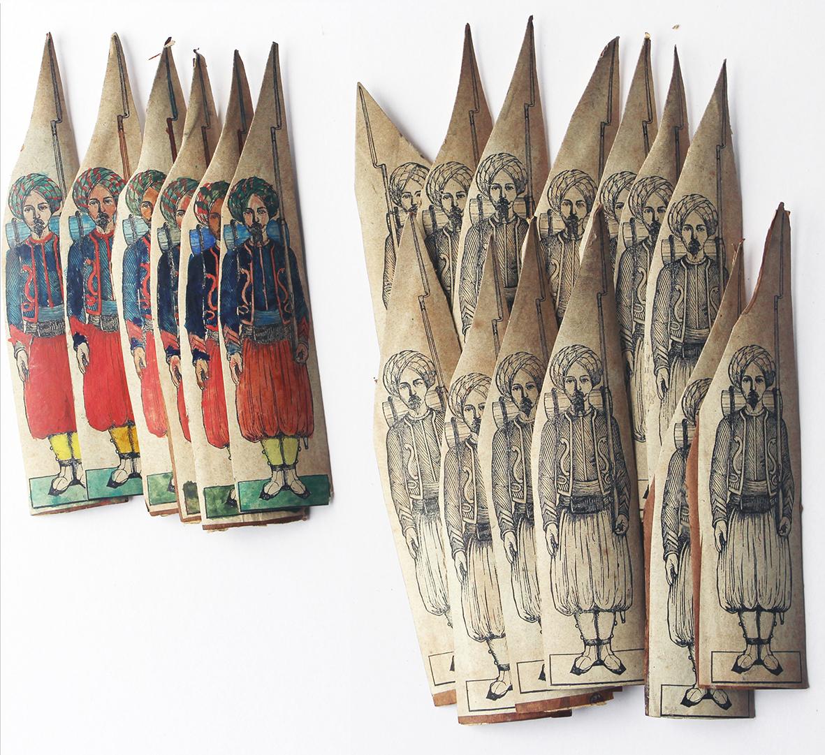 Lot Petits Soldats de Strasbourg - Silberman - Zouaves de la Garde Second Empire