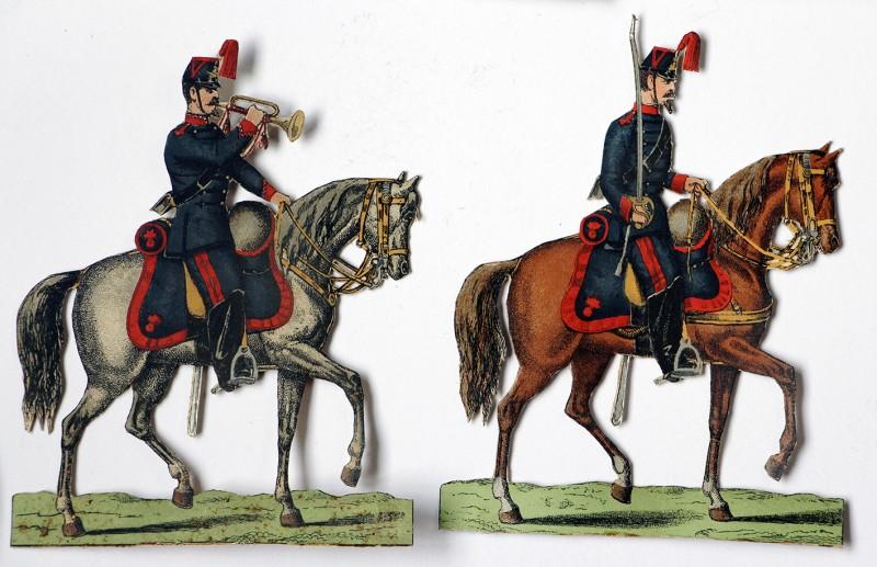 Petits Soldats de Strasbourg - Artillerie à Cheval 1880 - Planche Fischbach