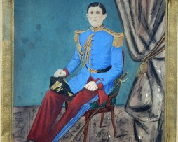 Cent-Gardes 1860 - Garde Impériale Second Empire - Photographie rehaussée - Militaire tenue de sortie.