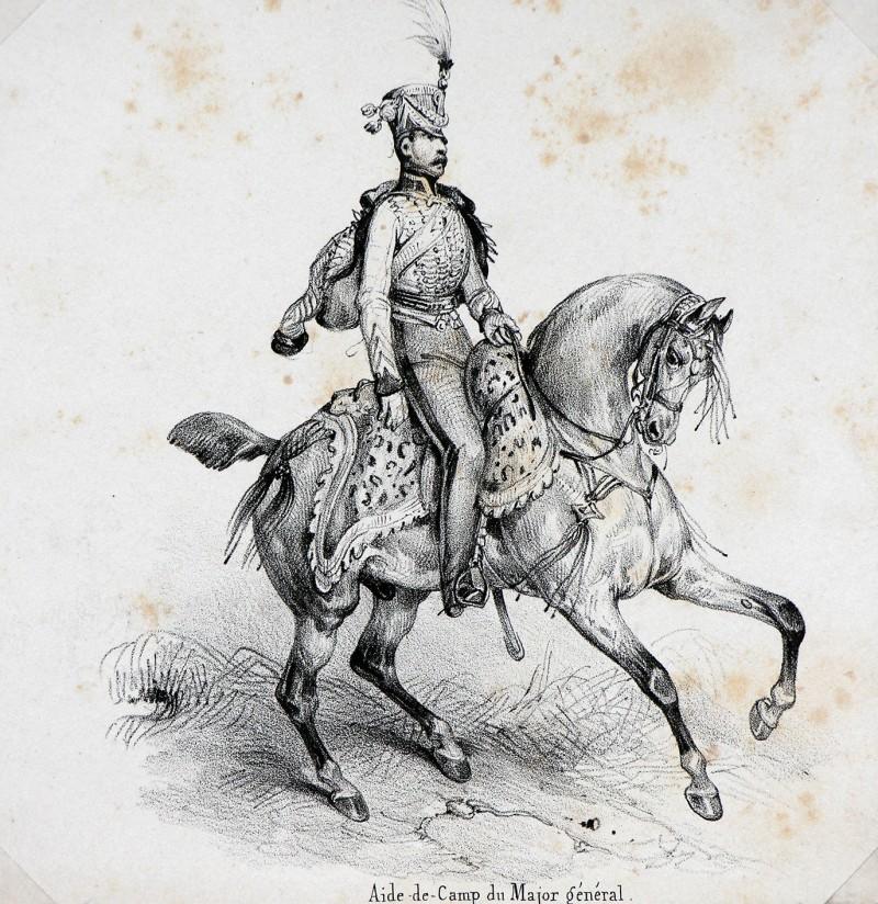 Lot de gravure extraits de planche de Adam - Soldats uniformes Révolution/1er Empire