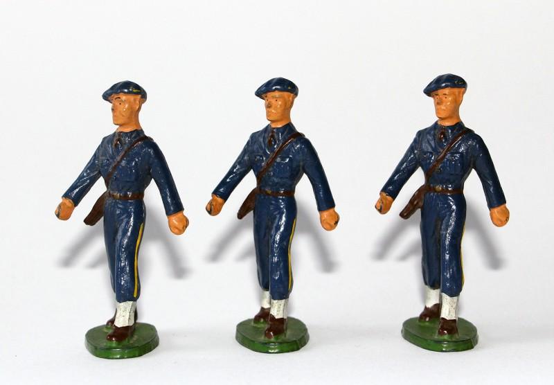 Figurines Starlux ancienne 3 Chasseurs à Pied Officiers