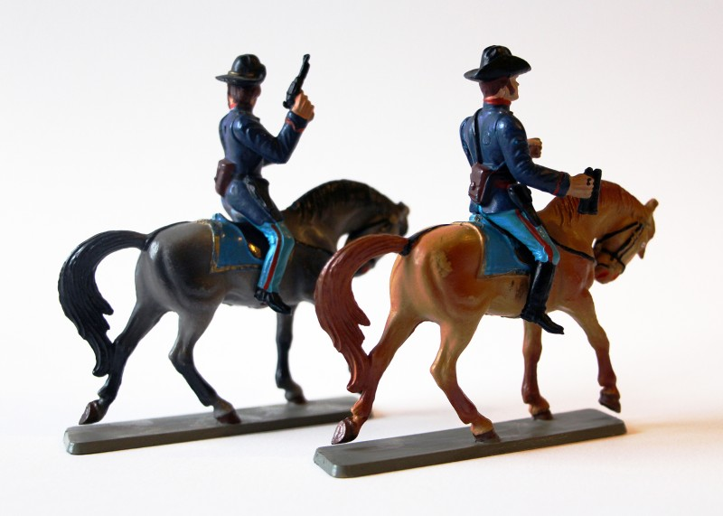 Figurines Starlux anciennes 2 Cavaliers Union Nordiste Complets