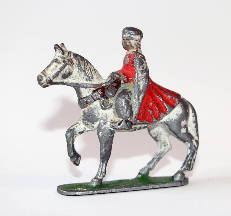 Figurine Quiralu ancienne Cavalier Spahi à Cheval