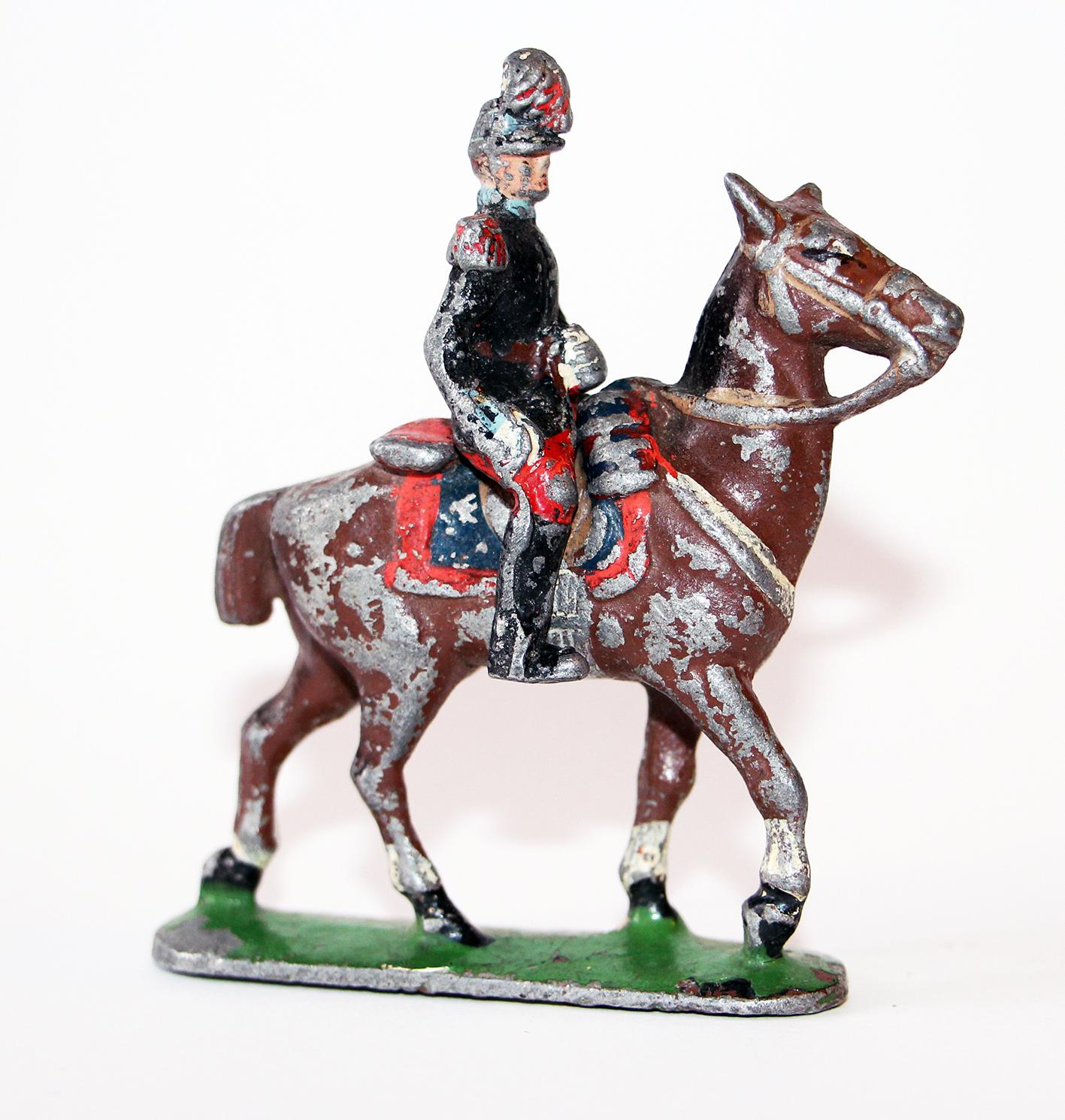Figurine Quiralu ancienne Cavalier Saint Cyr Ecole militaire 1940
