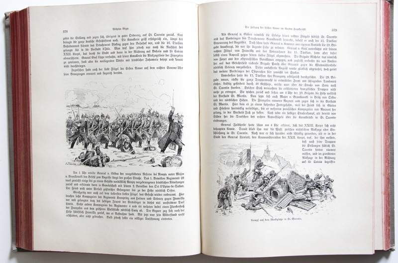 Krieg und Sieg 1870/1871 Ein Gedenkbuch - Berlin - Illustrations de Richard Knödel