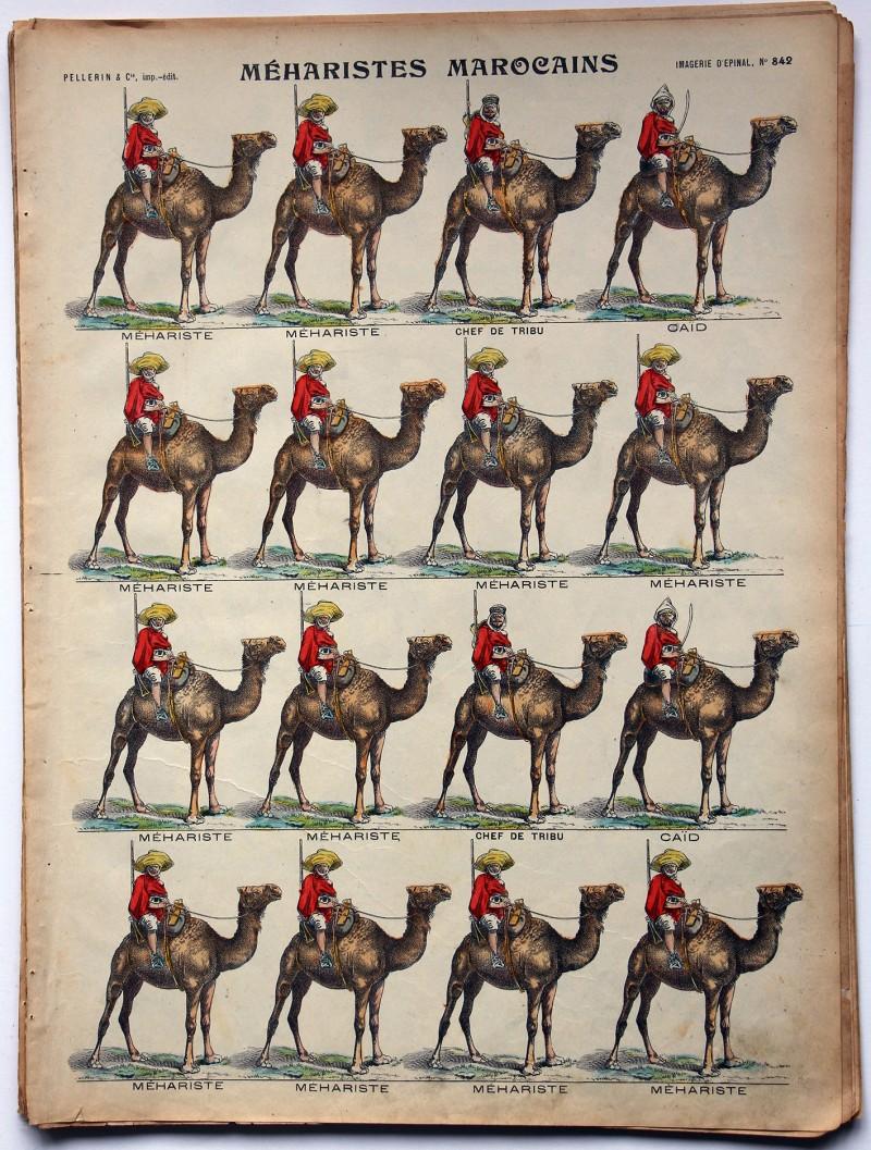 Planche imagerie Epinal - Pellerin Editeur - N°842 - Méharistes Marocains