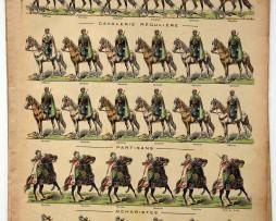 Planche imagerie Epinal - Pellerin Editeur - N°843 - Garde du Sultan - Troupe montée Maroc