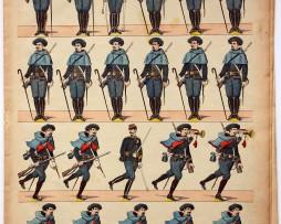 Planche imagerie Epinal - Pellerin Editeur - N°119 - Armée Française - Chasseurs Alpins